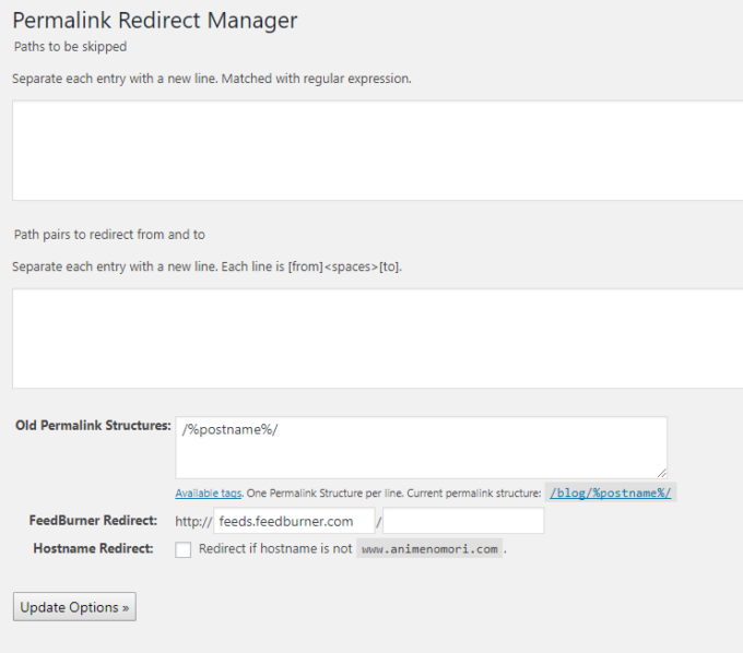 Permalink Redirect Manager
